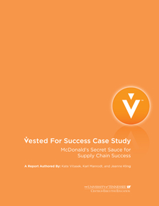 Vested For Success: McDonald's Secret Sauce for Supply Chain Success
