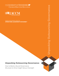 Unpacking Outsourcing Governance