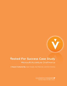 Vested For Success: Microsoft/Accenture OneFinance