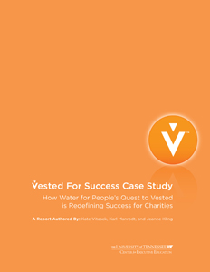 Vested For Success: How Water for People is Redefining Success for Charities