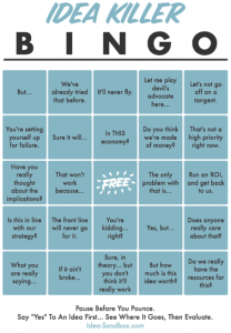 Avoid Idea Killer Bingo