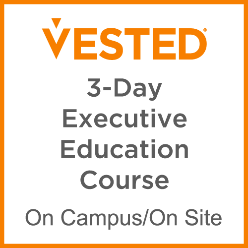 Vested 3-day executive education course. On campus/On site.
